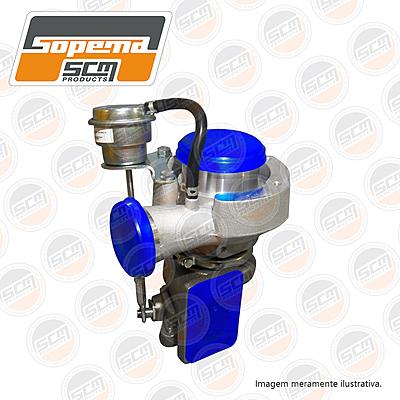 motor komatsu. s4d95, turbina