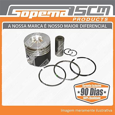 motor, ford genesis, pistao com anel std, 87802364